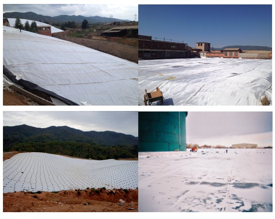 Nonwoven Geotextile Filter Fabric With Water Permeability PP 200G