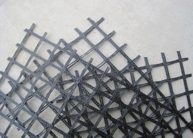 चीन Durable Warp Knitted Polyester Geogrid 20KN/M for Asphalt Wall आपूर्तिकर्ता