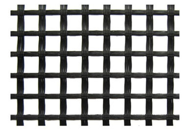 चीन Warp Knitted Polyester Geogrid Black for Runway / Railway Foundation आपूर्तिकर्ता