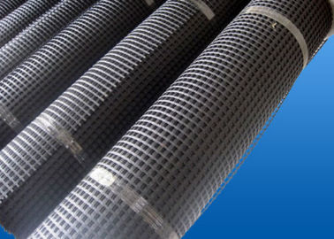 चीन PP High Tensile Strength Glass Fiber Geogrid Black for Retaining Wall आपूर्तिकर्ता