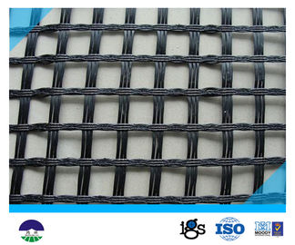 चीन 80KN/M Black Fiberglass Geogrid with High Strength for Retaining Wall वितरक