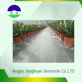 चीन 110gsm Split Film Woven Geotextile , Geotextile Stabilization Fabric For Weed Control वितरक
