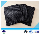 80 / 80kN Black Dewatering Woven Monofilament Geotextile High - Tenacity